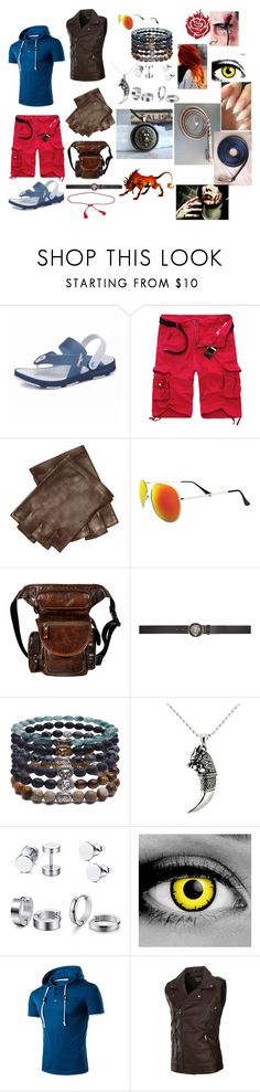 """""""Turk Rubia: Shade academy"""" by okamikun ❤ liked on Polyvore featuring John Varvatos, SWG, Versus, Something Strong, Palm Beach Jewelry, Barbed, VIVETTA, men's fashion and menswear"""