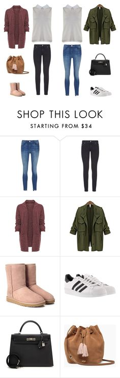 """""""Pull_Madame_Ecru"""" by clicandfit ❤ liked on Polyvore featuring Paige Denim, WearAll, UGG, adidas, Hermès and plus size clothing"""