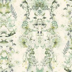 Penelope Green Floral Wallpaper | Departments | DIY at B&Q