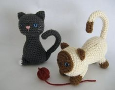 Crochet Cats. Perfect for your Cat-Lady friends.