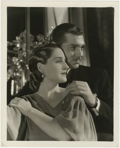 Norma Shearer and Clark Gable