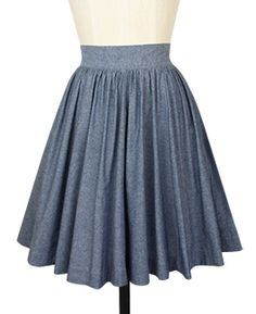 Trashy Diva Gathered Mini Skirt skt4930-bluechambray