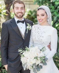 Adam + Noor Hijabi Wedding, Muslimah Wedding Dress, Muslim Wedding Dresses, Wedding Bride, Bride Dresses, Wedding Ideas, Indian Muslim Bride, Muslim Brides, Couples Musulmans