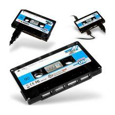 Cassette USB Hub Black.
