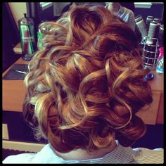 Bridal hair. Updo. Lose curls. Wedding hair.