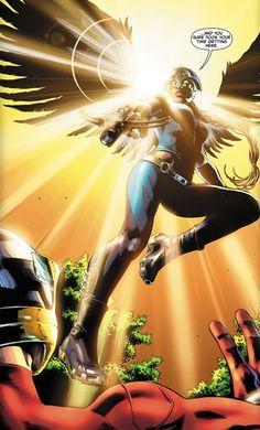 Hawkgirl Earth 2 by Nicola Scott Comic Book Characters, Comic Book Heroes, Comic Character, Comic Books Art, Book Art, Dc Comics Women, Dc Comics Art, Marvel Dc Comics, Robert E Howard