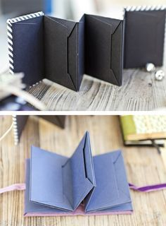 Make your own mini album using envelopes - perfect for mini scrapbook gifts, journals, and keepsakes!