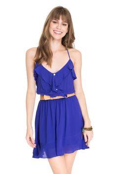 vestido babado assimétrico - Vestidos   Dress to
