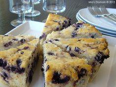 Mia's Domain | Real Food: Blueberry Cake