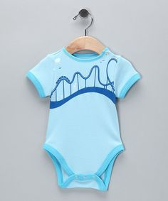 Take a look at this Blue Roller Coaster Bamboo Bodysuit - Infant by Little Bambino on #zulily today!