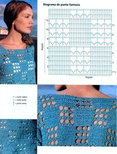 16 Patrones Gratis de Tunicas Tejidas a Crochet