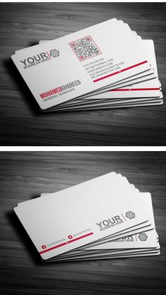 Creative corporate business card template with QR code, available for purchasing from CodeGrape.