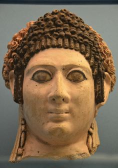 Romano-Egyptian mummy portrait of a woman, Roman Imperial Period, 120-140 A.D., from Hermopolis, National Museum of Denmark, Copenhagen