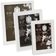 Prinz Soho Wood Frame Collection in White - BedBathandBeyond.com