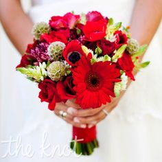 wedding bouquet red - Google Search