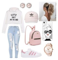 """""""Outfit"""" by violettav631 on Polyvore featuring adidas Originals, adidas, Miu Miu, Ted Baker, Casetify and Love Couture"""
