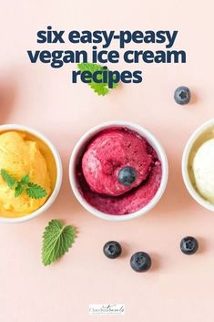 Looking for easy vegan ice cream recipes? We're sharing six incredibly simple nice cream recipes using plant-based ingredients for healthy and delicious vegan ice cream. Number five is one of our family favorites! Being on a plant-based diet doesn't mean giving up on the sweet things in life with these six drool-worthy choices for easy vegan ice cream recipes. Dairy Free Ice Cream, Vegan Ice Cream, Some Recipe, Recipe Using, Raspberry Ripple Ice Cream, Flourless Peanut Butter Cookies, Making Homemade Ice Cream, Vegan Cookbook, Ice Cream Cookies