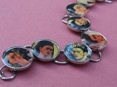 Frida Kahlo Self Portrait Bracelet by melaniemross on Etsy