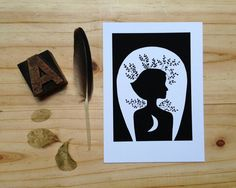 Collage print. Illustration. Drawing on Etsy, $10.00