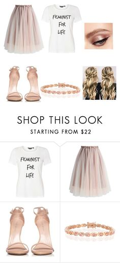 """This is what feminism looks like"" by teersha-leffanue ❤ liked on Polyvore featuring Dorothy Perkins, Chicwish, Stuart Weitzman and Bling Jewelry"