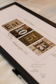Framed Wedding Guest Book