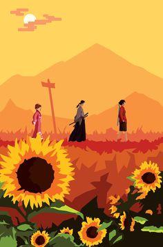 Journey to Sunflower Samurai by FireCouch on @deviantART
