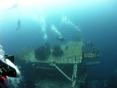 """Just a short boat ride off the coast, dive """"The Great Carrier Reef,"""" the largest artificial reef on Earth"""