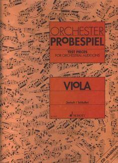 JENISCH/SCHLOIFER. Viola test pieces for orchestral auditions. Orchester Probespiel. Schott.