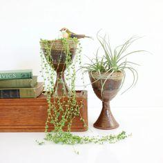 Vintage Studio Pottery Stoneware Goblets Diy Planters, Flower Planters, Flower Pots, Planter Pots, Earthy, House Plants, Stoneware, Pottery, Studio