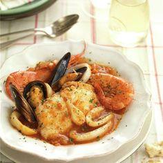 Zarzuela de pescado y marisco - Rainstorm Tutorial and Ideas Fish Stew, Monkey Business, Cordon Bleu, 20 Min, Tandoori Chicken, Chicken Wings, Healthy Life, Crockpot, Shrimp