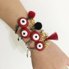 Handmade greek jewelry and crochet accessories! Evil Eye Jewelry, Evil Eye Bracelet, Heart Bracelet, Love Bracelets, Friendship Bracelets, Greek Jewelry, Seed Bead Jewelry, Beaded Jewelry, Unique Jewelry