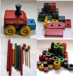 Vintage Lot of WOOD TOYS 1960s by vintagous on Etsy, $25.00