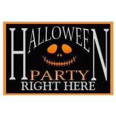 Orange Pumpkin Face Halloween Party Yard Sign