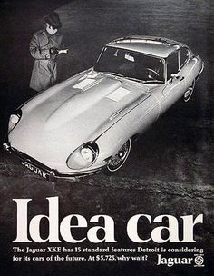 Jaguar XKE Coupe 1969 Idea Car - Mad Men Art: The 1891-1970 Vintage Advertisement Art Collection