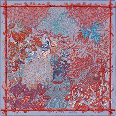 Mythes et Métamorphoses | Silk twill scarf, hand-rolled (90 cm x 90 cm) | Ref. : H002814S 14
