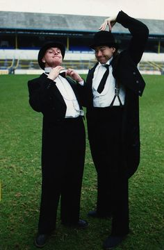 Paul Gascoigne and Chris Waddle as Stan Laurel and Oliver Hardy Football Odds, Rangers Football, Football Soccer, Chris Waddle, English Legends, Tottenham Hotspur Football, Stan Laurel, Pose Reference, Newcastle