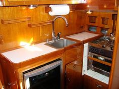 1000 images about for chris on pinterest sailboat interior boat interior and boats for sale Ship galley kitchen design