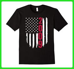 Mens 2009 American Flag 8th Birthday Gifts tshirt 3XL Black - Birthday shirts (*Amazon Partner-Link)