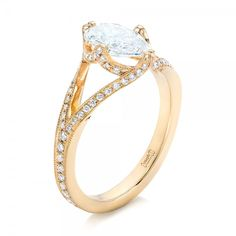 Custom Yellow Gold Diamond Engagement Ring | Joseph Jewelry | Bellevue | Seattle | Online | Design Your Own Ring