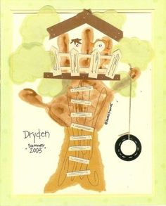 tree house hand print