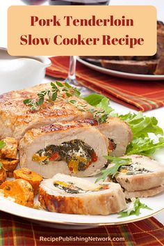 Pork tenderloin is a wonderful; cut of meat to dress up and in fact lends well to this on its own it can be a bit dry so adding things like in this stuffed tenderloin recipe is a good idea.