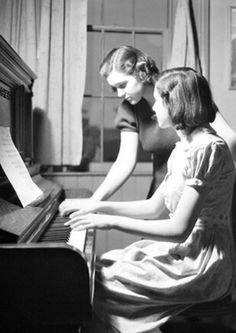 Lewis Hine - Piano Lesson, 1930's.