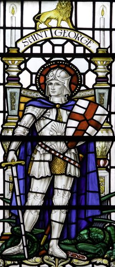 https://flic.kr/p/GtznHh | St George in Newcastle | Stained glass from the church of St John the Baptist in Newcastle.