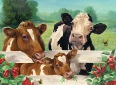DIY Diamond Painting by Number Kit, Full Round Drill Round Rhinestone Embroidery Pictures for Decoration Cow by The Fence Farm Animals, Cute Animals, Arte Country, Cow Painting, Farm Art, Cow Art, 5d Diamond Painting, Animal Paintings, Farm Paintings