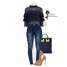 The shirt is like a tunic and has the ruffled material at the bottom Style Outfits, Classy Outfits, Casual Outfits, Fashion Outfits, Womens Fashion, Fall Fashion Trends, Autumn Fashion, Outfit Elegantes, Everyday Outfits