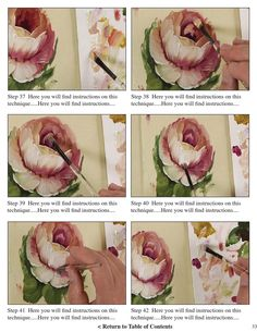 Preview of our painting book titled Tapestry of Strokes. Learn how to paint the Aubusson style of tapestry flowers and scrolls