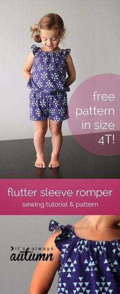 Sew Pretty Sew Free: Flutter Sleeve Romper Pattern and Tutorial