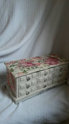 (A44) Large musical jewellery box shabby chic by victoriasvintagechic.