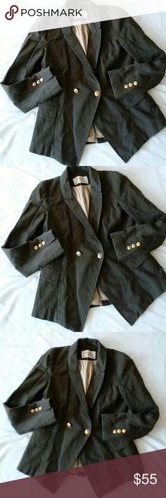 Zara Blazer Size S 73% Cotton 27% Linen..Preowned Zara Jackets & Coats
