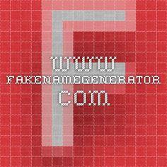 Your fake name generator | www.fakenamegenerator.com
